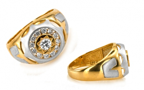 2dae44d5dd8 Pánske zlaté prstene, Biele zlato   iZlato.sk