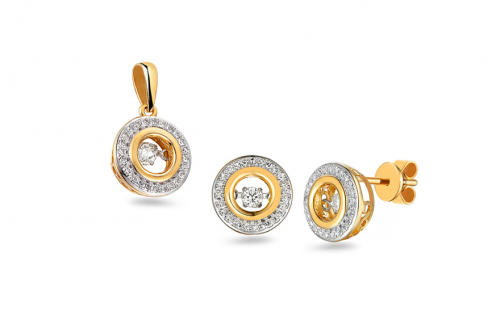 Briliantová súprava 0.430 ct Dancing Diamonds - IZBR546YS