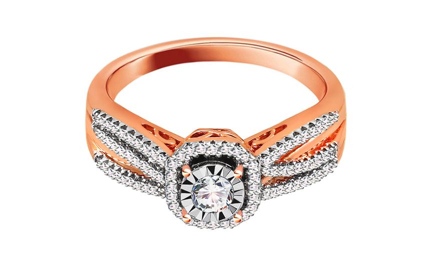 05e4c9147 Briliantový zásnubný prsteň z ružového zlata 0.320 ct, pre ženy ...