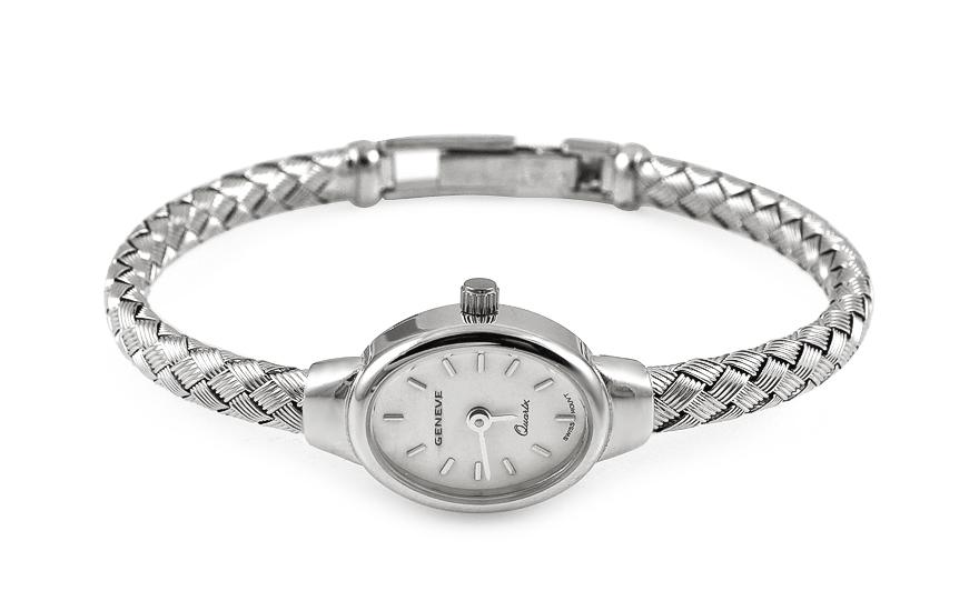 Dámske hodinky z bieleho zlata Geneve a433c6b0157