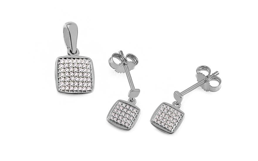 Diamantová súprava z bieleho zlata 0.170 ct Aberto b93d5c50900