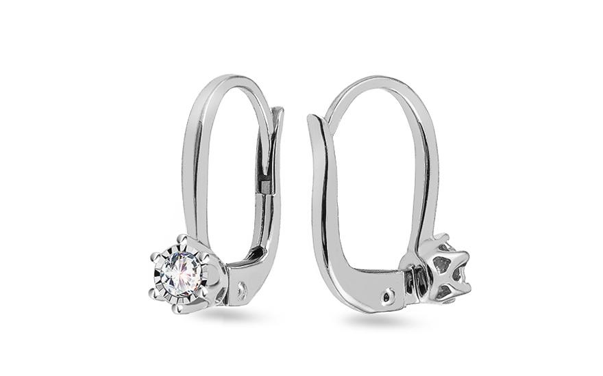 Diamantové náušnice 0.160 ct z bieleho zlata a3d360fc067