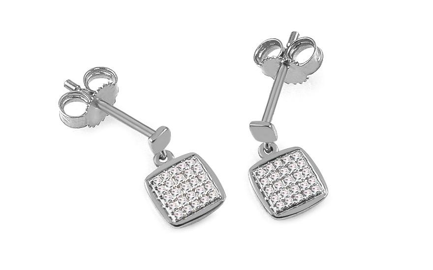 Diamantové náušnice z bieleho zlata 0.090 ct Aberto 678268fa938