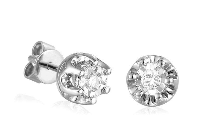 Diamantové náušnice z bieleho zlata 0.170 ct 41f2b1d3a02