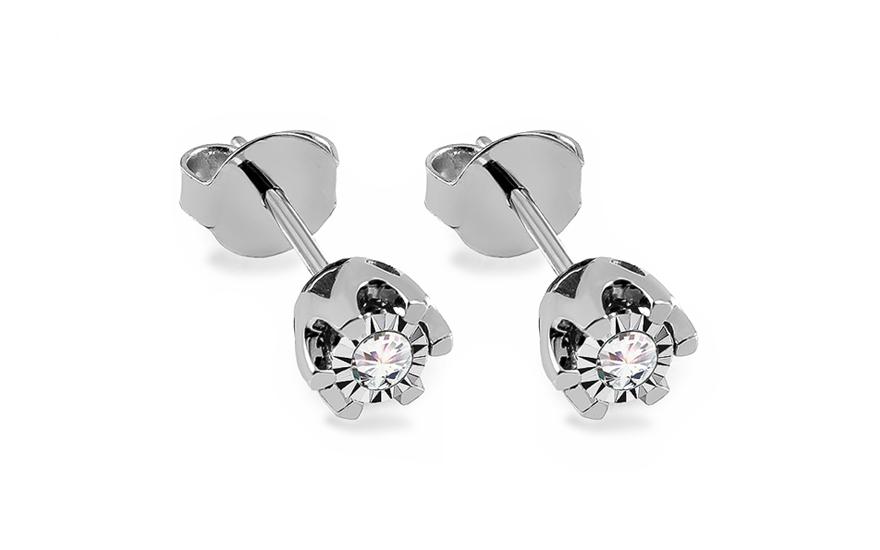 5353fae37 Diamantové náušnice z bieleho zlata 0.180 ct Nadine 2, pre ženy ...