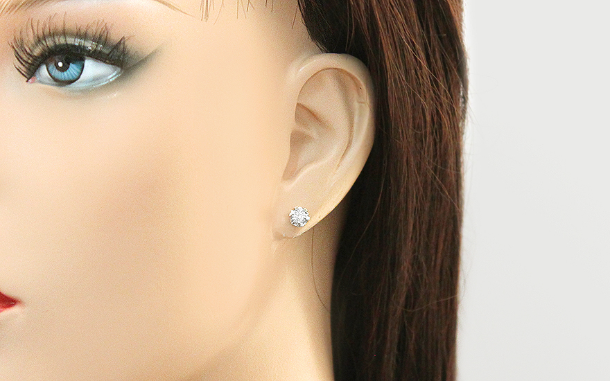 Diamantové náušnice z bieleho zlata 0.180 ct Nadine 2 8a763b5886a