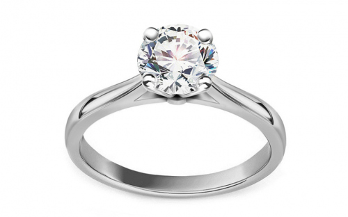 Zásnubný prsteň s diamantom 1.040 ct Estelle white - CSBR53A