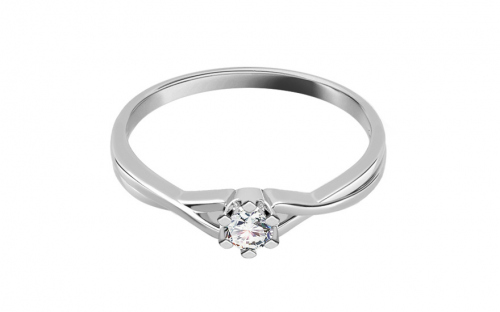 Zásnubný prsteň s 0,060 ct diamantom Amazing love