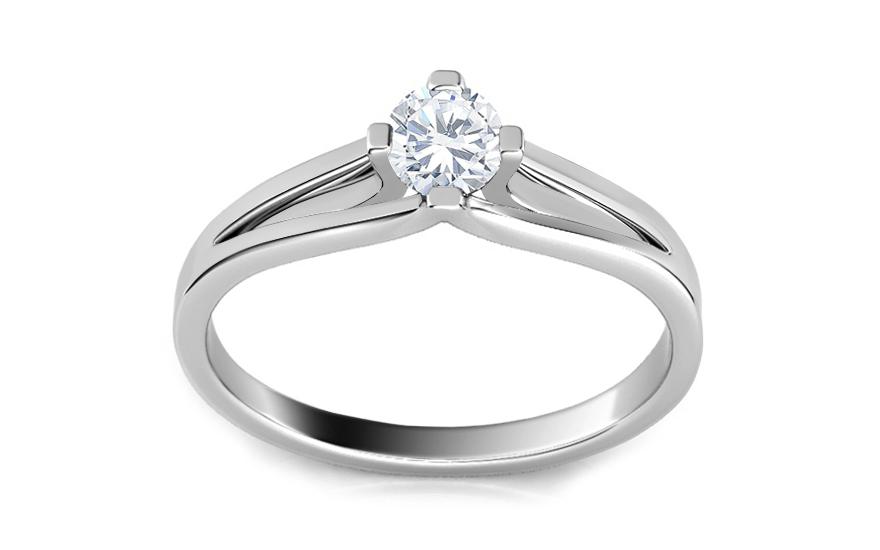 a476208db Zásnubný prsteň s 0,160 ct diamantom Promise 7, pre ženy (ARBR08 ...
