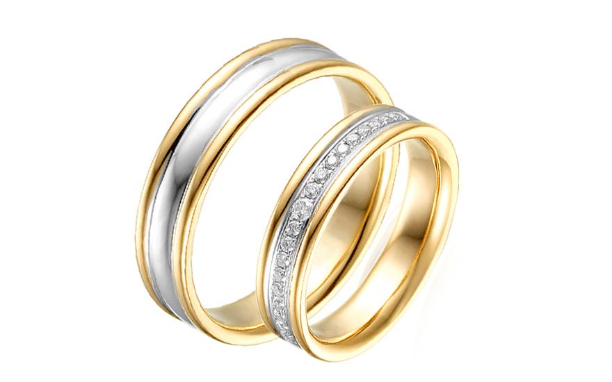Diamantové svadobné obrúčky 0 89755d9ac64