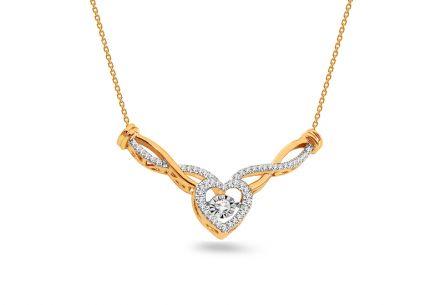 7a69191d515 Briliantový náhrdelník 0.200 ct so srdiečkom Dancing Diamonds ...