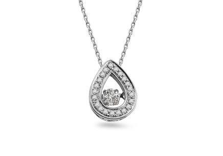 d2791d20998 Briliantový náhrdelník z bieleho zlata 0.140 ct Dancing Diamonds ...