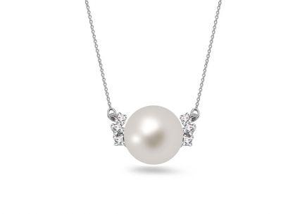 a44d01dad Náhrdelník z bieleho zlata s perlou a diamantmi 0.050 ct Antonina ...
