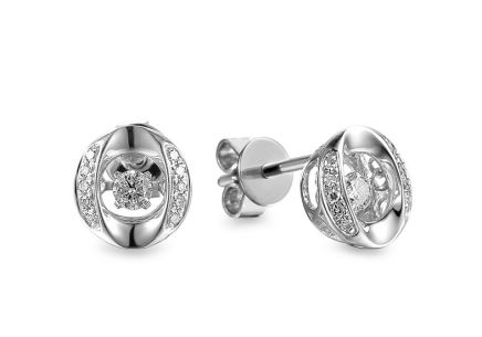 Diamantové náušnice z bieleho zlata 0.180 ct Dancing Diamonds ... f92ce041d37