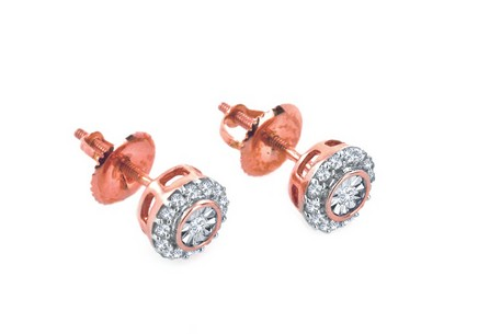 Diamantové náušnice Ardiente rose 0,160 ct