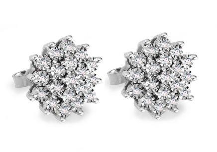 a9c6a78f3 Napichovacie náušnice z bieleho zlata s diamantmi 0.110 ct Avalee ...