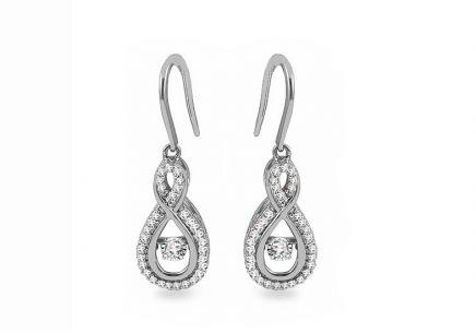 4e4dc200a Náušnice z bieleho zlata s diamantmi 0.210 ct Dancing Diamonds ...