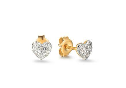 56cdbbf68 Diamantové náušnice pre ženy, šperk s diamantom, Victoria, Hearts ...