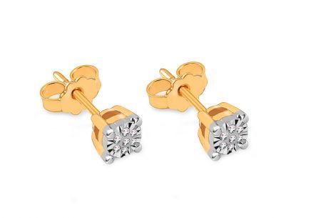 cd205708c Zlaté napichovacie náušnice s diamantmi 0.060 ct Janice ...