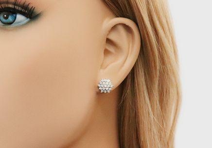 ee6f78e80 ... Zlaté napichovacie náušnice s diamantmi 0.110 ct Avalee