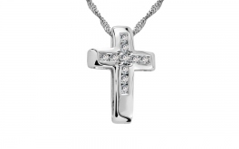 Diamantový krížik Midnight Cross 0,155 ct
