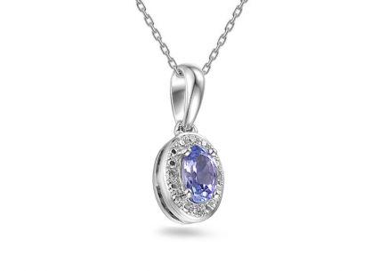 1c0dca93a Zlatý prívesok s tanzanitom a diamantmi Fanny ...