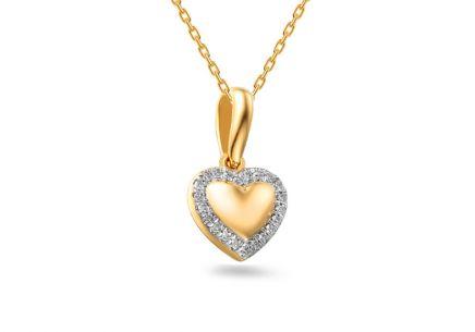 37255f36e Zlaté prívesky srdiečko, Diamond heart | iZlato.sk