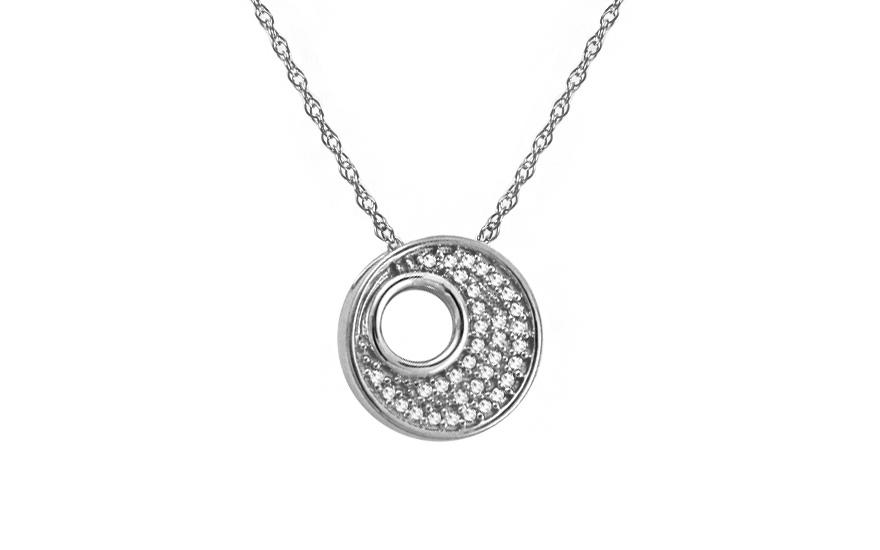 7d250c9e3 Diamantový náhrdelník z bieleho zlata, pre ženy (KU464A) | iZlato.sk