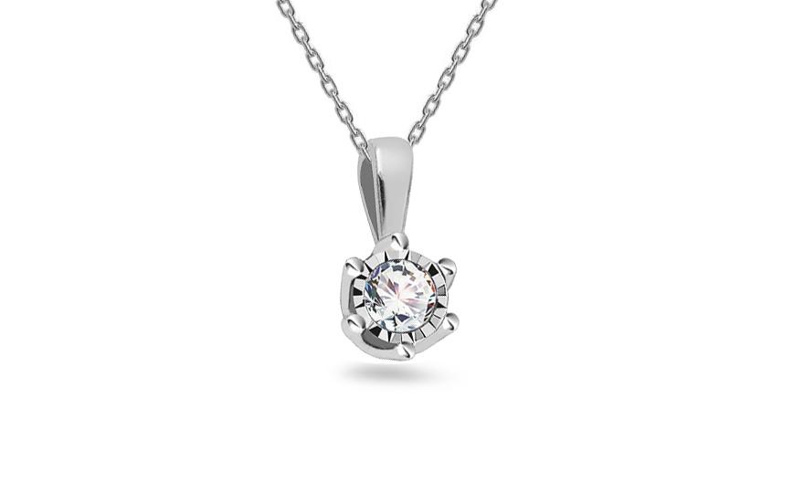 fbeea29dd Diamantový prívesok 0.080 ct z bieleho zlata, pre ženy (ROYBR323 ...