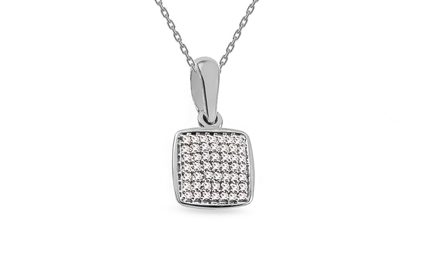 4b0fb519b Diamantový prívesok z bieleho zlata 0.080 ct Aberto, pre ženy ...