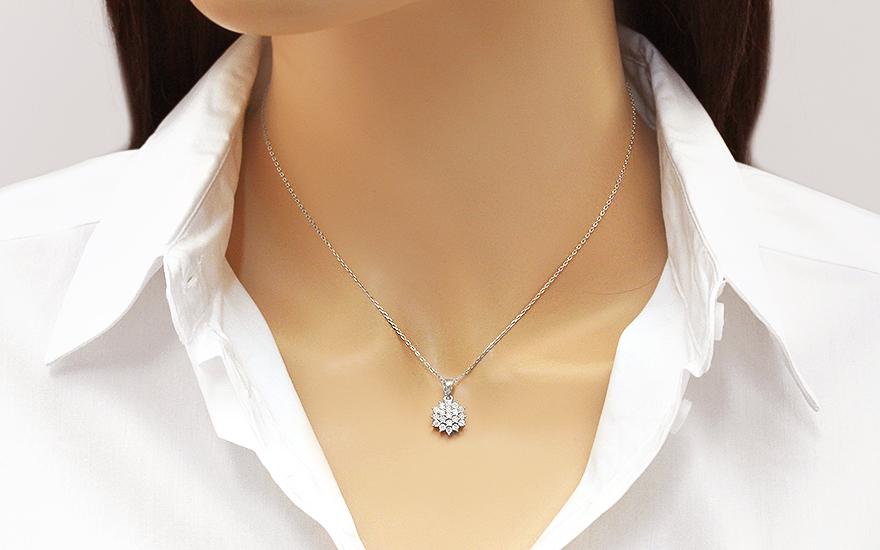 1373bcb8f Diamantový prívesok z bieleho zlata 0.080 ct Avalee, pre ženy ...