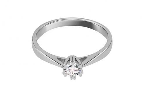 Diamantový zásnubný prsteň z bieleho zlata 0.150 ct 39dac0d6fdc