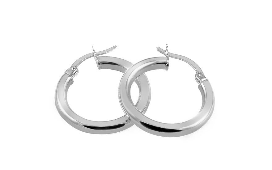 26c895145763 Elegantné náušnice z bieleho zlata kruhy 2