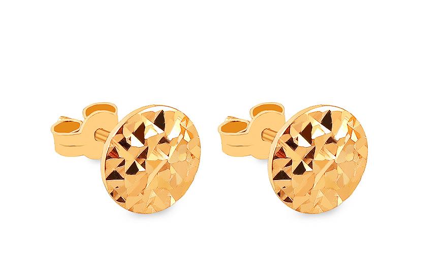1f50f9ce1caa Elegantné zlaté náušnice s gravírom - IZ15676B