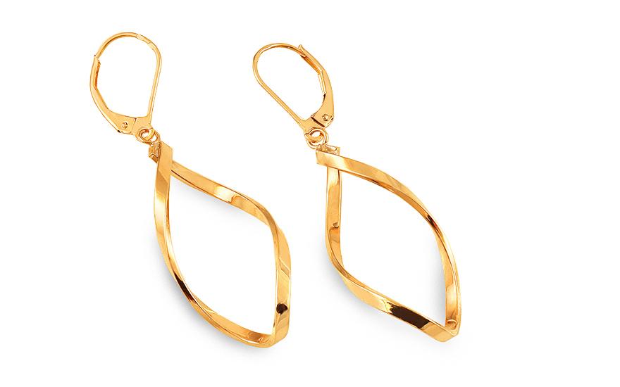 052ce8ab8738 Elegantné zlaté visiace náušnice