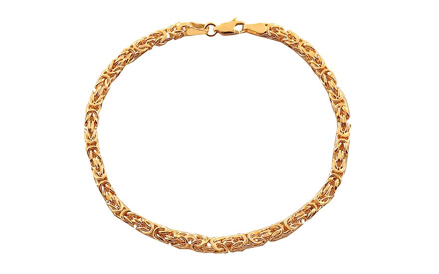 6294e1366 Elegantný zlatý náramok Kráľovský vzor 4 mm, pre mužov (IZ18066N ...