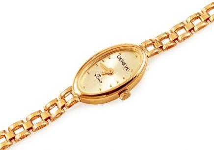 99fc8abbea1 Zlaté dámske hodinky Geneve ...