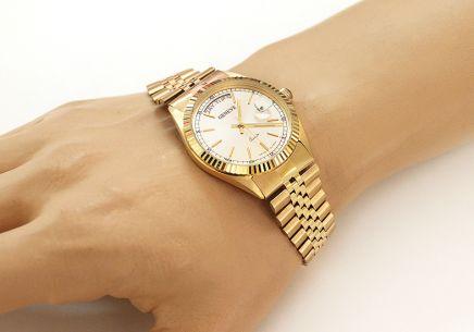 ca08066011 Zlaté pánske hodinky Geneve Zlaté pánske hodinky Geneve