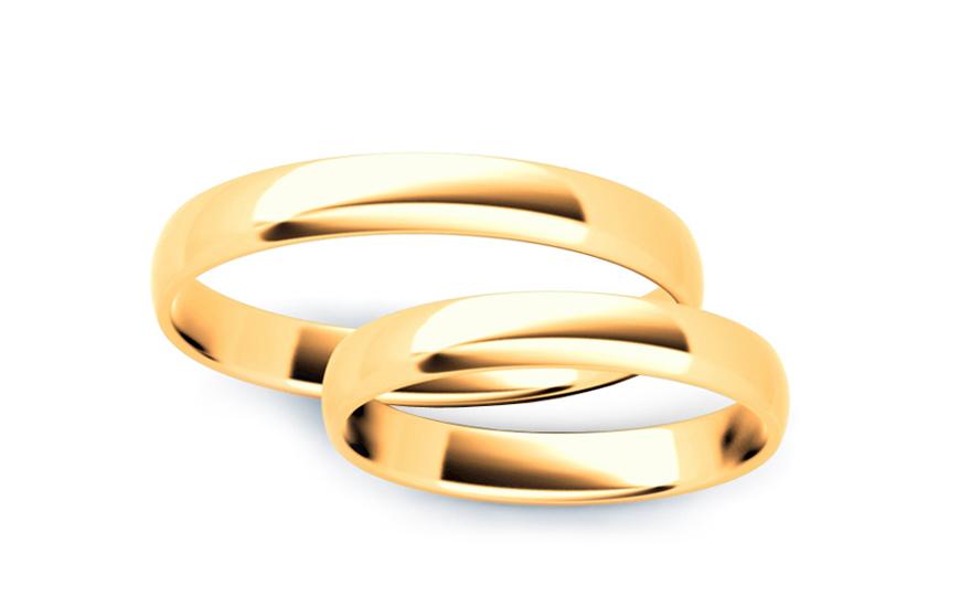 Klasické svadobné obrúčky 3 mm (STOB10003-3)  2046b034eb4