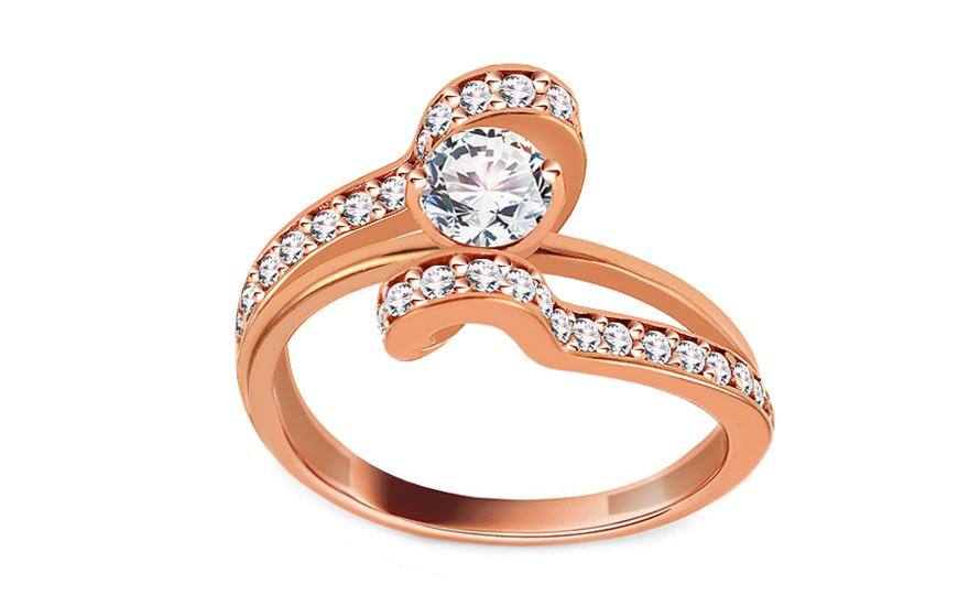 1a281b891 Luxusný zásnubný prsteň so zirkónmi, pre ženy (IZ2970) | iZlato.sk