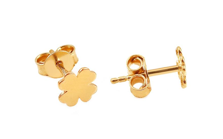 052387efe Minimalistické zlaté náušnice štvorlístky, pre ženy (IZ12053 ...