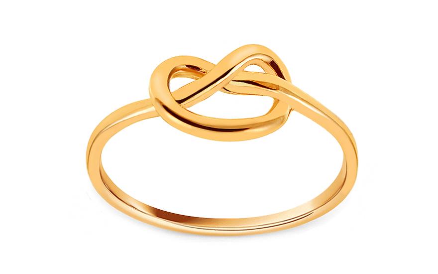 70c19dbf4 Minimalistický zlatý prsteň s uzlíkom, pre ženy (IZ16280) | iZlato.sk