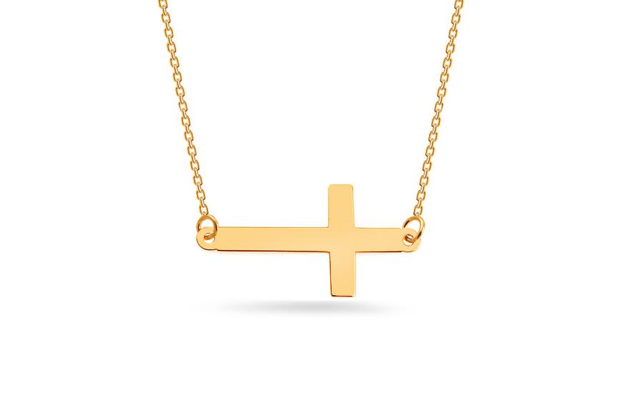 Zlatý náhrdelník s krížikom f61079135f7