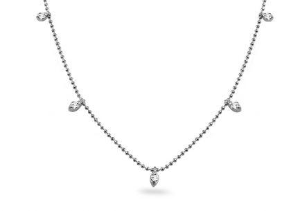 4d7201e5b Briliantový náhrdelník z bieleho zlata s príveskami 0.200 ct ...