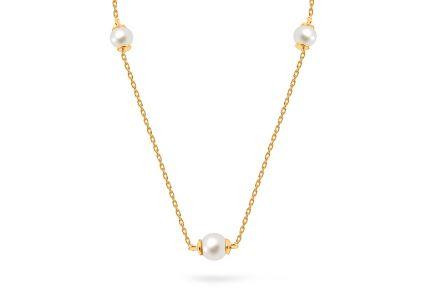 bd8215566 Elegantný zlatý náhrdelník s perlami ...