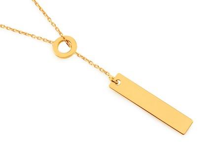 Pozlátený strieborný náhrdelník Krúžok s platničkou ... 7caea275cfc