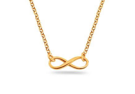 Pozlátený strieborný náhrdelník nekonečno ... 5545e8fae15