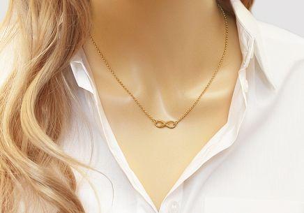 Pozlátený strieborný náhrdelník nekonečno Pozlátený strieborný náhrdelník  nekonečno 8563ddd6f70