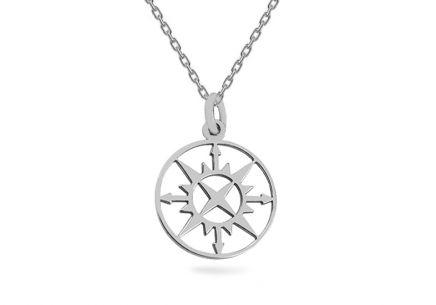 Strieborný náhrdelník s príveskom Kompas ... e9a70e1ff91