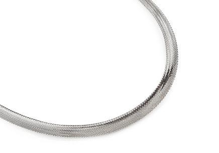 55b0c2b86 Zlatý dámsky náhrdelník Flexi z bieleho zlata ...